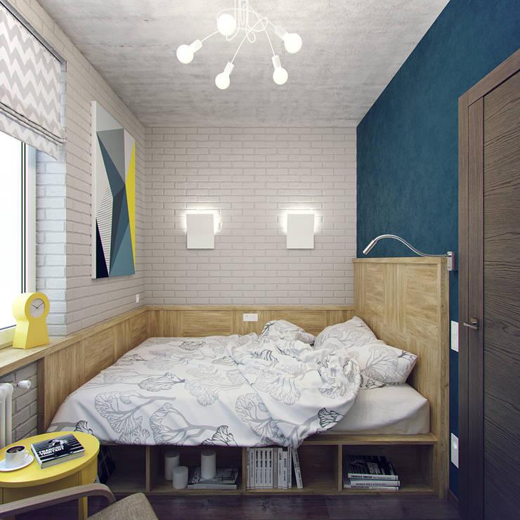 Habitaciones pequeñas de estilo  por Студия дизайна Марии Губиной