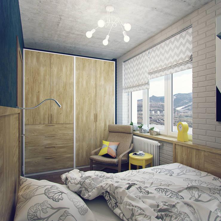 غرفة نوم تنفيذ Студия дизайна Марии Губиной
