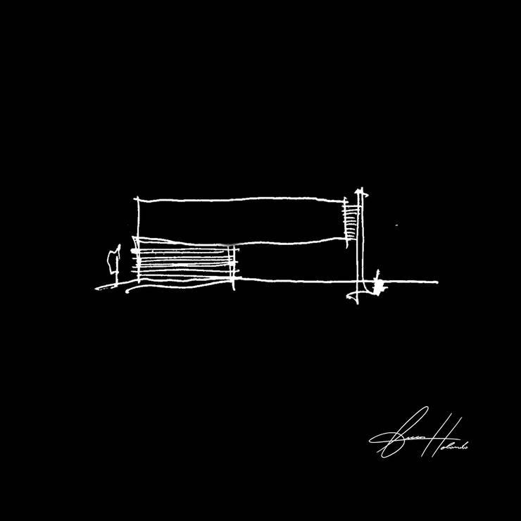 croqui:   por Lucas Buarque de Holanda Arquiteto,Moderno