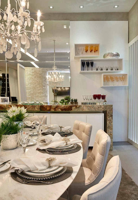 Decora Lider Campinas – Sala de Almoço – Em Volta da Mesa: Salas de jantar  por Lider Interiores