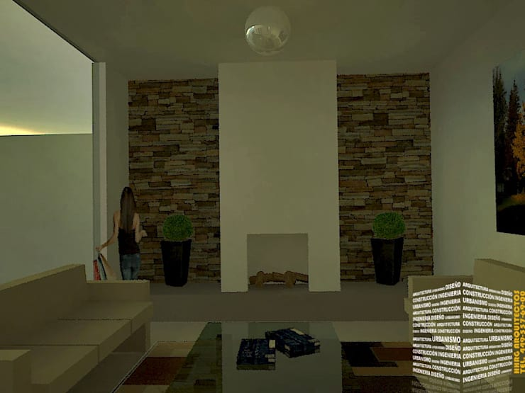 Living room by HHRG ARQUITECTOS, Classic