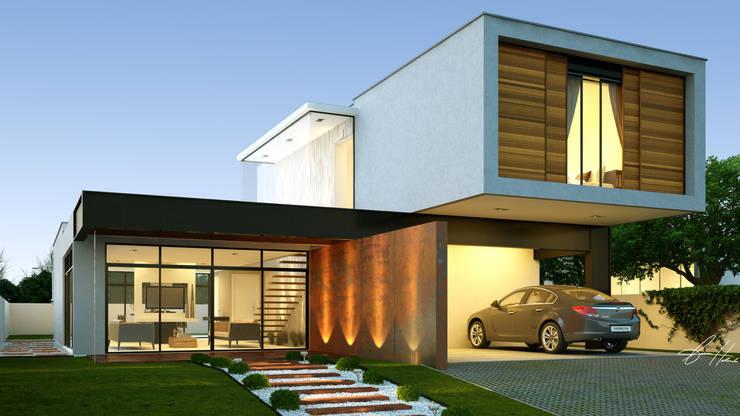 Residência Macapá: Casas  por Lucas Buarque de Holanda Arquiteto,Moderno
