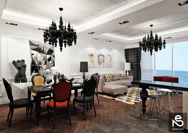 Квартира <q>Первая Жемчужина</q>: Гостиная в . Автор – Studio Eksarev & Nagornaya