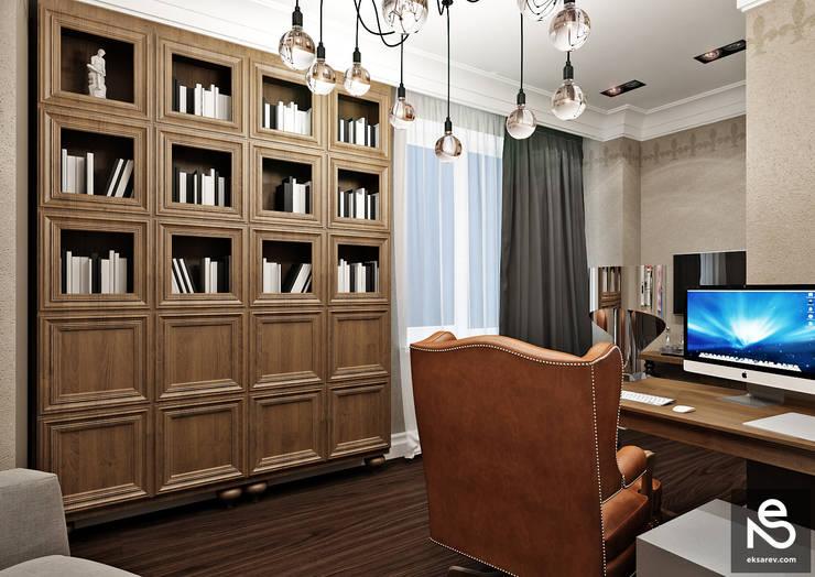 Квартира <q>Первая Жемчужина</q>: Рабочие кабинеты в . Автор – Studio Eksarev & Nagornaya