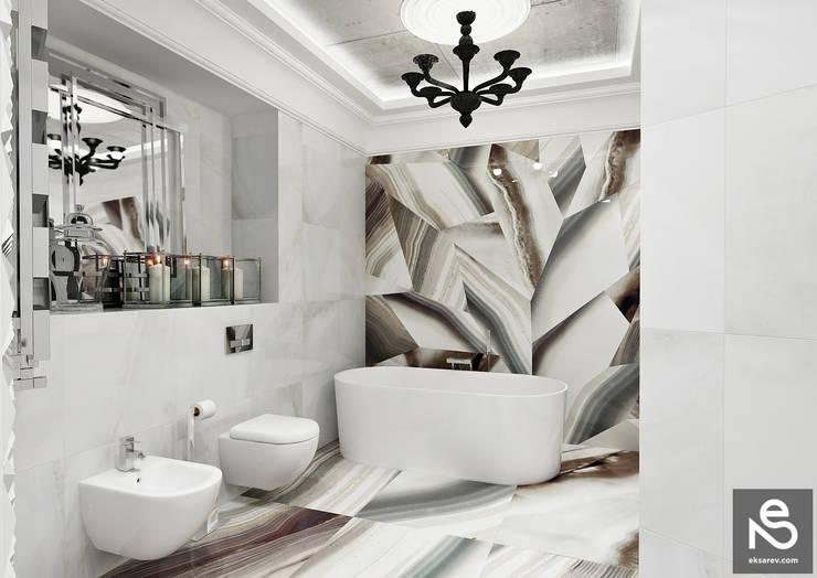 Квартира <q>Первая Жемчужина</q>: Ванные комнаты в . Автор – Studio Eksarev & Nagornaya