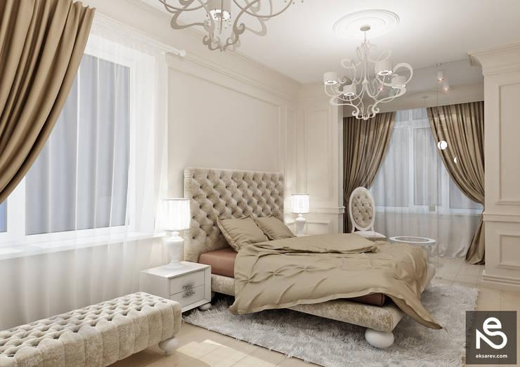Квартира <q>Первая Жемчужина</q>: Спальни в . Автор – Studio Eksarev & Nagornaya