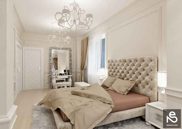 Projekty,  Sypialnia zaprojektowane przez Studio Eksarev & Nagornaya