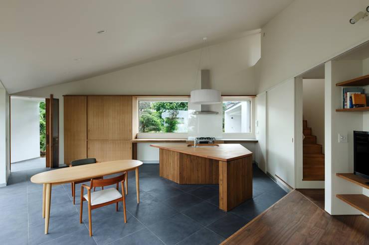 矢の口の家: 向山建築設計事務所が手掛けたキッチンです。