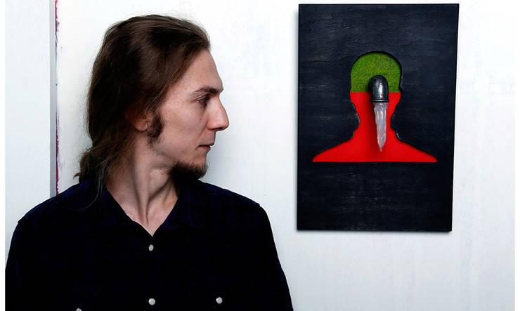 "Pons Home Design – ""Adamın beyni sulanmış"" yaratıcı tablosu: modern tarz , Modern Ahşap Ahşap rengi"