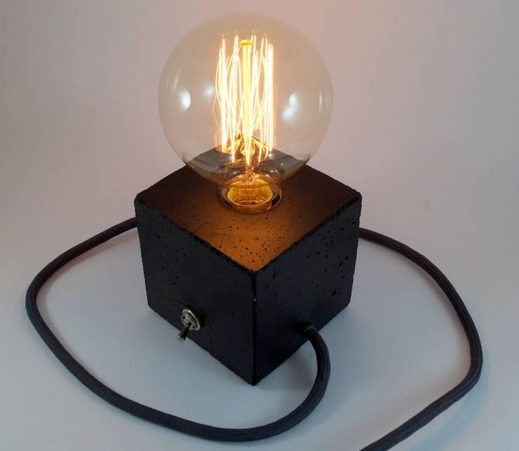 """Betonlampe. Tischlampe. """"cubo/black"""":  Esszimmer von Uniikat.de,"""