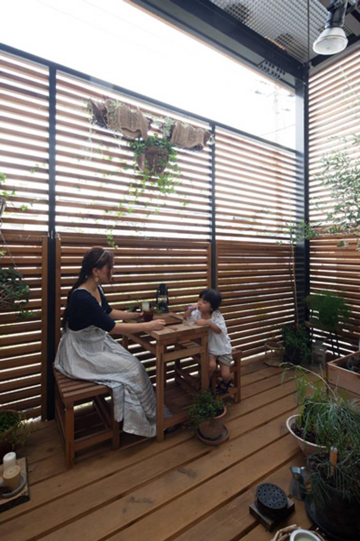 Terrasse de style  par 藤森大作建築設計事務所, Éclectique