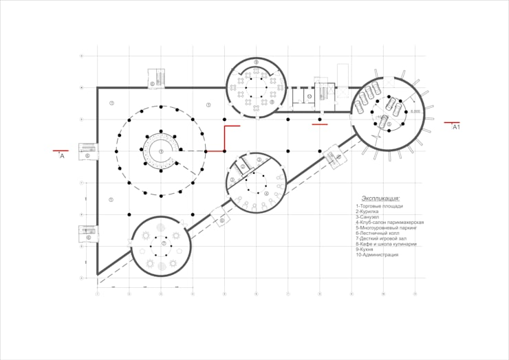 План первого этажа:  в . Автор – Садовникова Наталья Евгеньевна