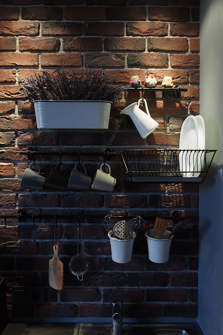 Лофт ул. Колпакова: Кухни в . Автор – Designer Olga Aysina