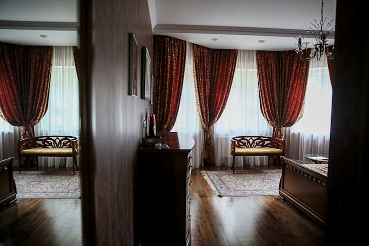 غرفة نوم تنفيذ Designer Olga Aysina