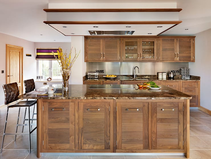 Grosvenor  |  Walnut And Marble Elegance:  Kitchen by Davonport