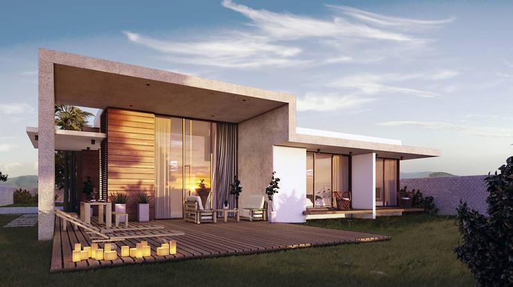 Casa compacta: Casas  por Márcia Teixeira Arquitetura e Construção