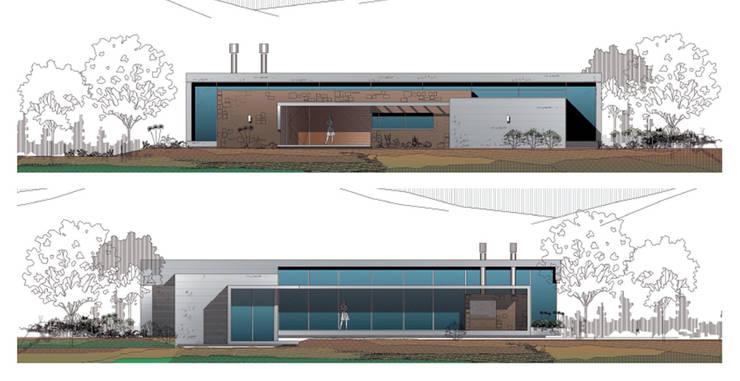 Dibujos Fachadas Casa el Tipal: Casas de estilo  por Proyecto Norte