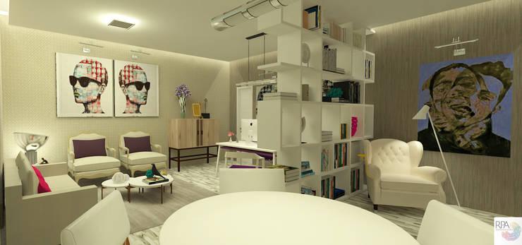 O Escritório da Empresária: Espaços comerciais  por Rangel & Bonicelli Design de Interiores Bioenergético