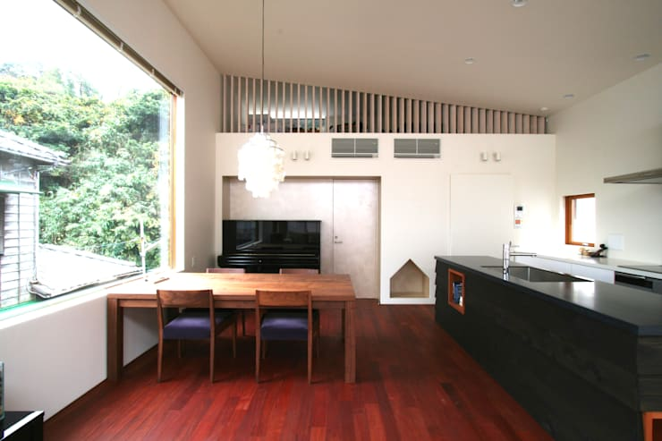 Projekty,  Jadalnia zaprojektowane przez 向山建築設計事務所