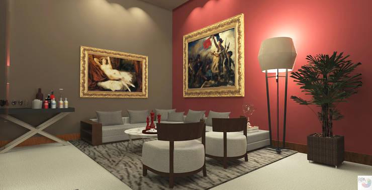 O Escritório do Empresário: Edifícios comerciais  por Rangel & Bonicelli Design de Interiores Bioenergético