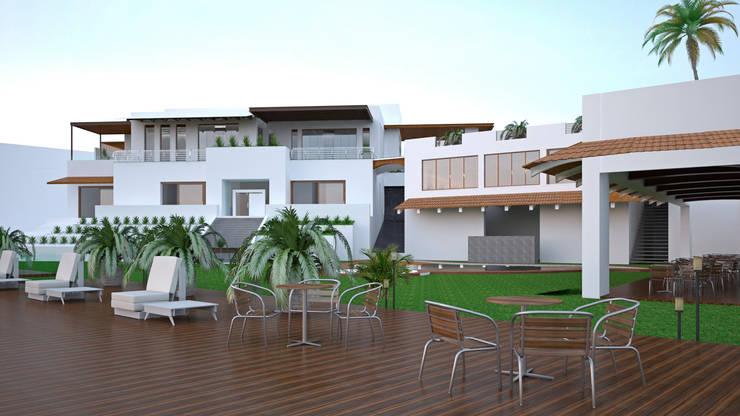 CASA SAAVEDRA: Jardines de estilo  por Design Arquitectos