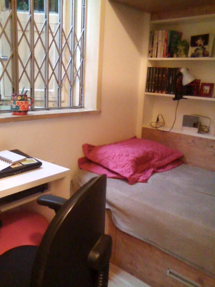 quarto para duas irmãs: Quartos  por Margareth Salles,Moderno MDF