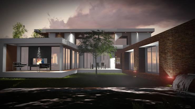 Casa JP: Casas de estilo moderno por A.CCS estudio de arquitectura