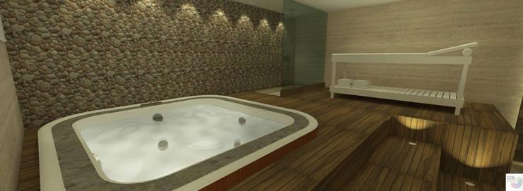 SPA: Spas  por Rangel & Bonicelli Design de Interiores Bioenergético,