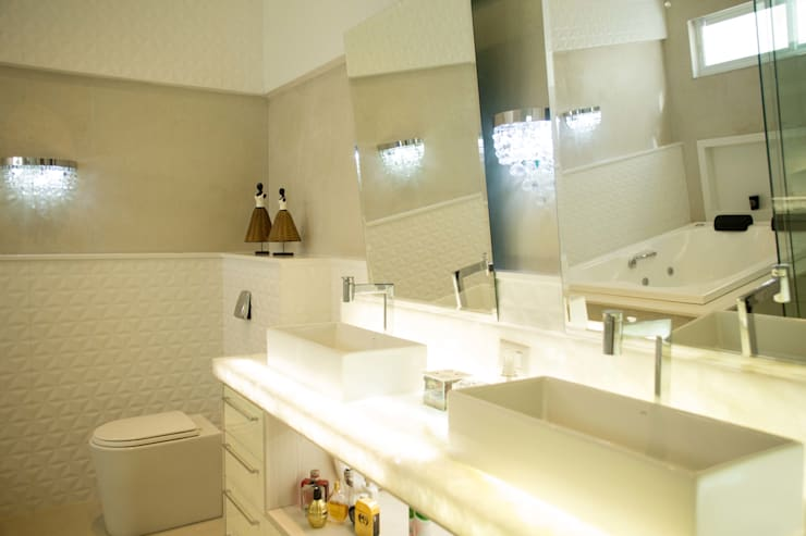 RESIDÊNCIA A.D: Banheiro  por BOULEVARD ARQUITETURA