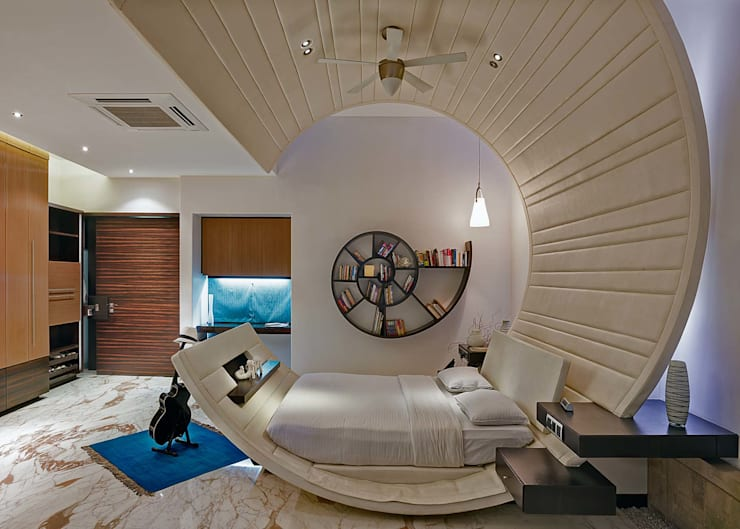 Camera da letto in stile in stile Moderno di TAO Architecture Pvt. Ltd.