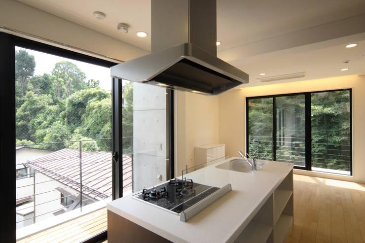 小石川の家: K2・PLAN 株式会社本多建築設計事務所が手掛けたキッチンです。,モダン 木 木目調