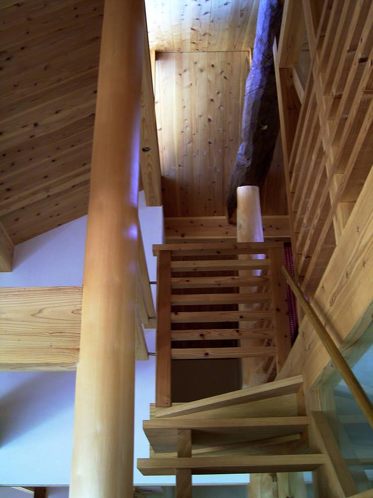 階段: 計画工房 辿が手掛けた廊下 & 玄関です。,
