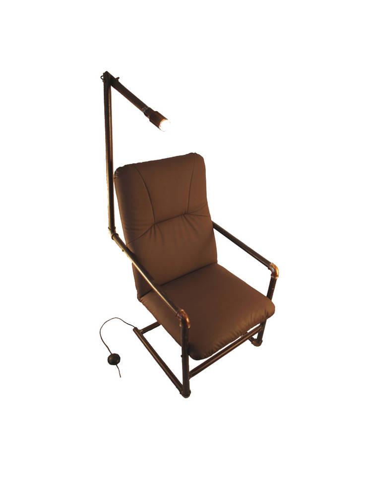 Fotel Industrialny : styl , w kategorii Salon zaprojektowany przez Rekoforma,