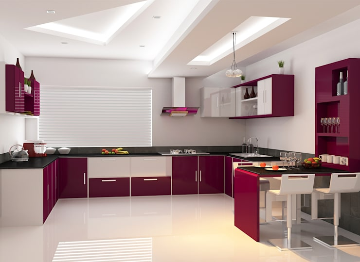 Modular Kitchen:  Kitchen by Nimble Interiors