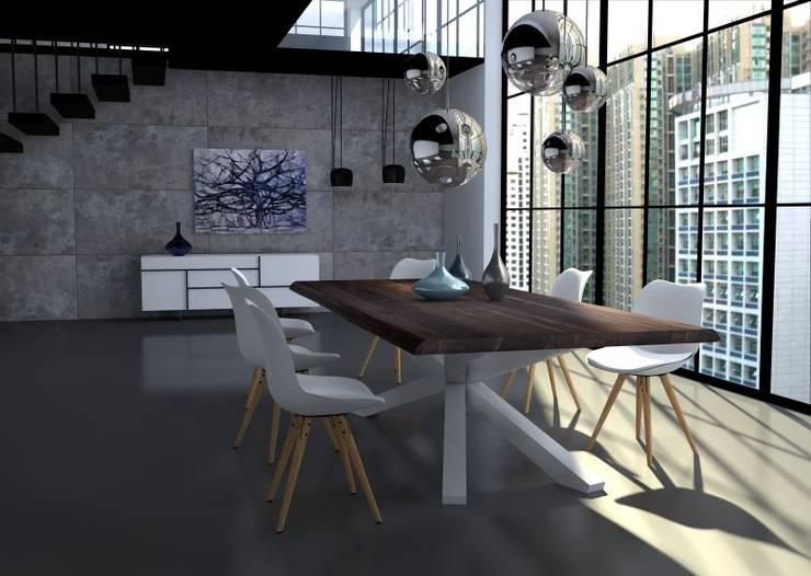 Urządzamy jadalnię w lofcie: styl , w kategorii Jadalnia zaprojektowany przez Le Pukka Concept Store