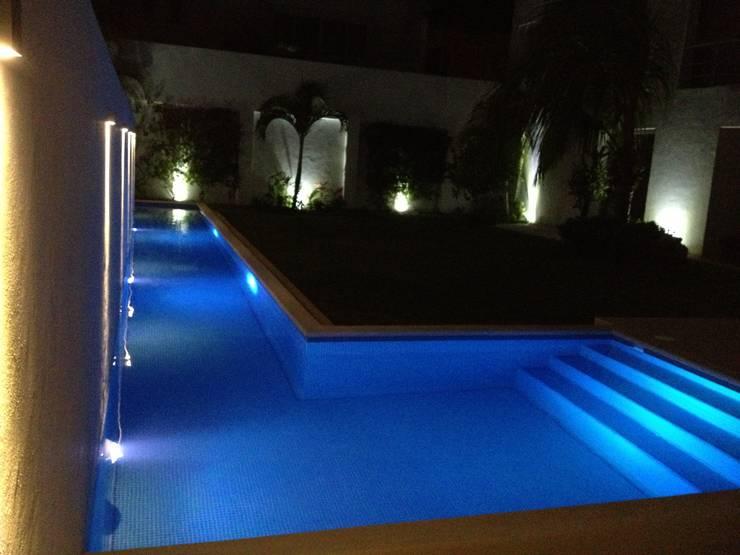 Casa habitacion en en Cozumel Quintana Roo: Albercas de estilo  por A2 HOMES SA DE CV