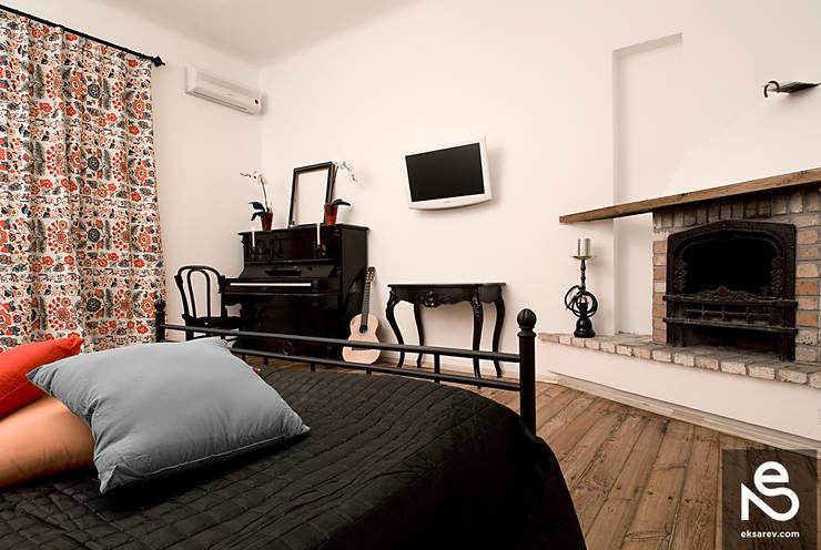 Apartment - Kanatnaja street: Спальни в . Автор – Studio Eksarev & Nagornaya