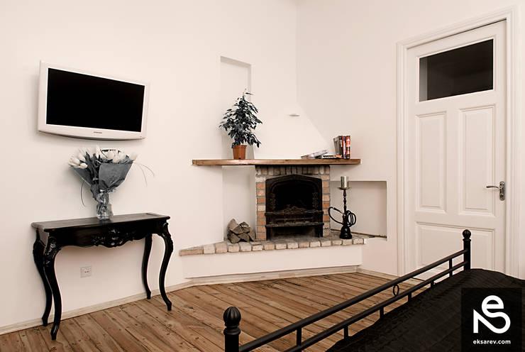 Apartment – Kanatnaja street: Спальни в . Автор – Studio Eksarev & Nagornaya