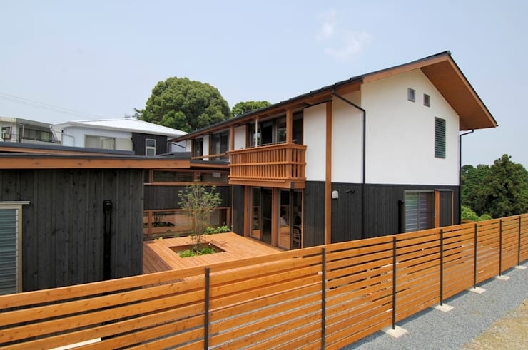 Houses by shu建築設計事務所, Asian Wood Wood effect