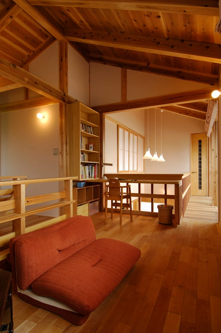 Modern media room by shu建築設計事務所 Modern Wood Wood effect