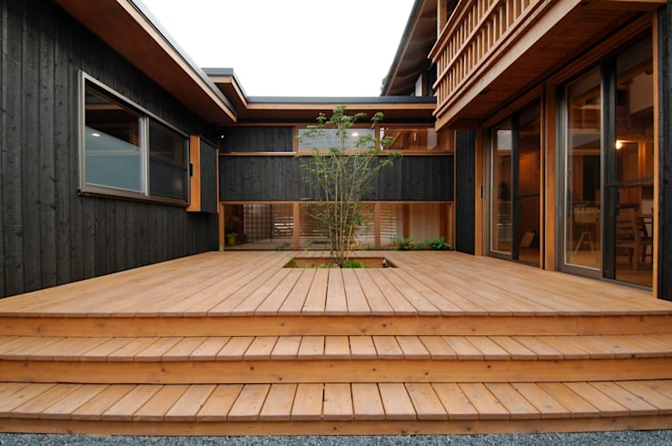 shu建築設計事務所의  베란다