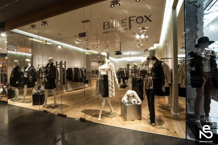 """""""Bluefox"""" leather and fur shop: Гардеробные в . Автор – Studio Eksarev & Nagornaya"""