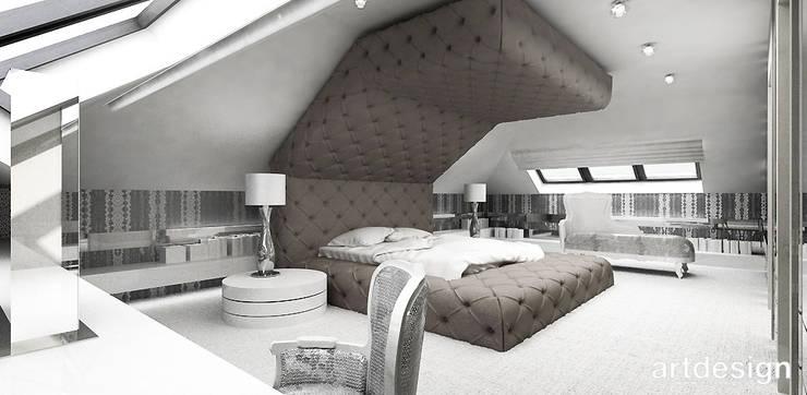 Odważna aranżacja sypialni: styl , w kategorii Sypialnia zaprojektowany przez ARTDESIGN architektura wnętrz,Nowoczesny