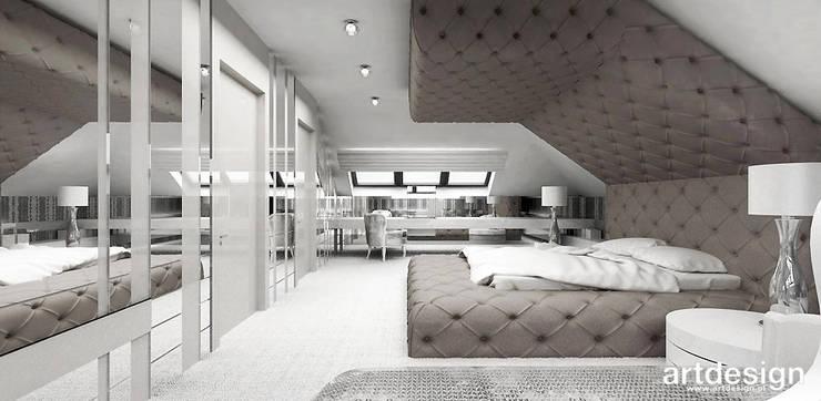 ACCELERATED ARCHITECTURE | II | projekt sypialni, łazienki i garderoby: styl , w kategorii Sypialnia zaprojektowany przez ARTDESIGN architektura wnętrz