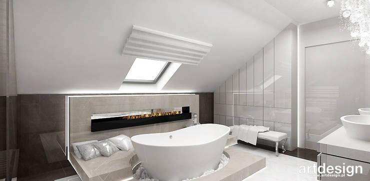 ACCELERATED ARCHITECTURE | II | projekt sypialni, łazienki i garderoby: styl , w kategorii Łazienka zaprojektowany przez ARTDESIGN architektura wnętrz
