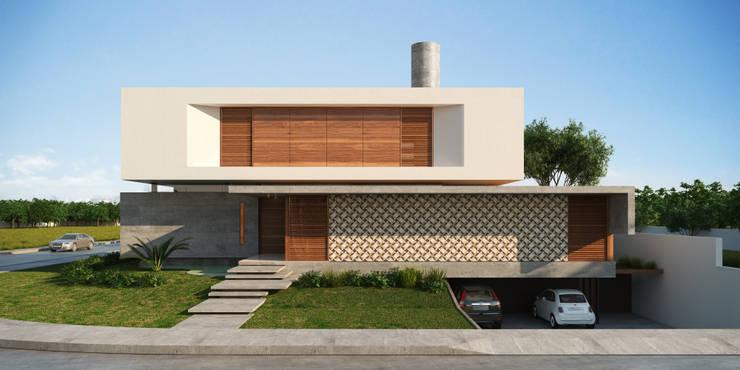 Casas de estilo  por Martins Lucena Arquitetos, Moderno