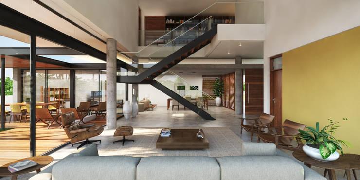 Salas / recibidores de estilo  por Martins Lucena Arquitetos, Moderno