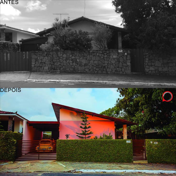 Casa Mariana:   por Martins Lucena Arquitetos,Rústico