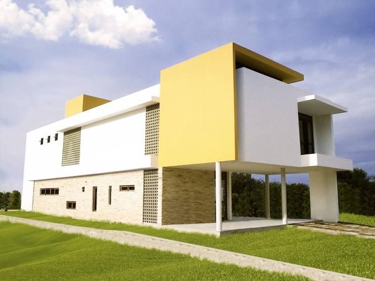 Casa Gerson: Casas  por Martins Lucena Arquitetos,Moderno