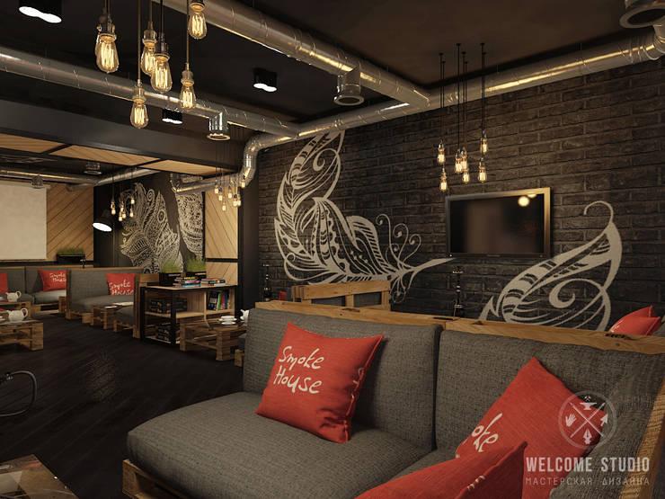Кальянная ракурс 1: Бары и клубы в . Автор – Мастерская дизайна Welcome Studio